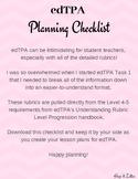 6-12 ELA edTPA Planning Checklist Rubrics 1-5 Level 4/5