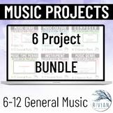 6-12 Music Project BUNDLE: Middle School & High School Mus