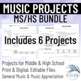 6-12 Music Project BUNDLE: Middle School & High School Mus