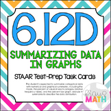 6.12D: Relative Frequency & Percent Graphs STAAR Test-Prep Task Cards (GRADE 6)
