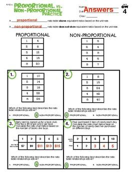 6.12c Ratios: Proportional vs. Non-Proportional
