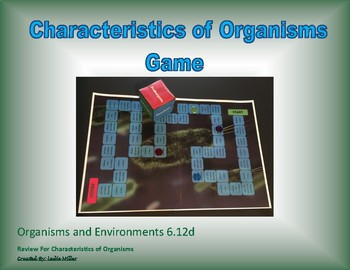6.12d Characteristics of Organisms Game
