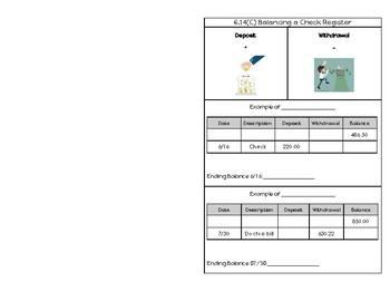 6.14(C) Balancing a Check Register Notes