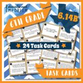 6.14B TEKS Task Cards ⭐ Credit Cards & Debit Cards ⭐ 6.14B Centers ⭐ TEST PREP