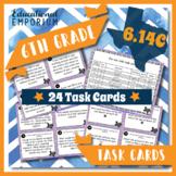 6.14C TEKS Task Cards ⭐ Balance a Check Register ⭐ 6.14C Centers ⭐ TEST PREP