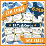6.14D TEKS Task Cards ⭐ Positive Credit History ⭐ 6.14D Centers ⭐ TEST PREP