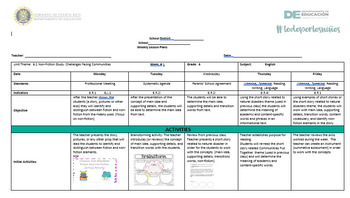 6.2 English Lesson Plans