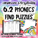 6.2 Phonics Find - Words with 'Le' Syllables (aligned to 3rd Grade Wonders 6.2)