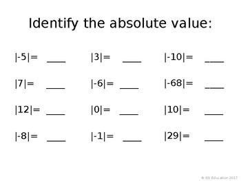 Math TEKS 6.2 Real Number Practice *Editable*