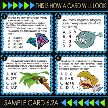 6.2A: Classifying Numbers ★ 6th Grade TEKS Math Task Cards ★ Math TEK 6.2A