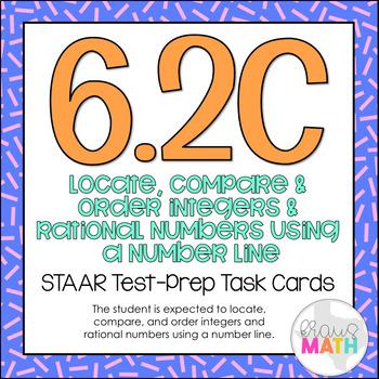 6.2C: Compare & Order Integers & Rational Numbers STAAR Te