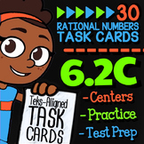Math TEK 6.2C ★ Ordering Rational Numbers on Number Lines ★ 6th Grade STAAR Math