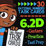 Math TEK 6.2D ★ Ordering Rational Numbers ★ 6th Grade Task Cards