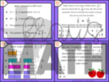 6.3A: Understanding Reciprocals STAAR Test-Prep Task Cards (6.NS.1)