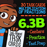 Math TEK 6.3B ★ Multiplying by Fractions ★ 6th Grade STAAR Math Task Cards
