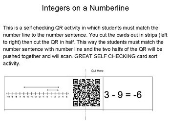6.3C Integers on a Number line