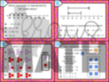 6.3C: Modeling Integer Operations STAAR Test-Prep Task Cards (GRADE 6)