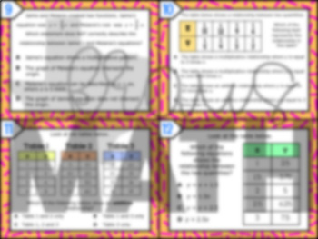 6.4A: Additive & Multiplicative Relationships STAAR Test-Prep Task Cards