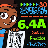 Math TEK 6.4A ★ Additive & Multiplicative Relationships ★ 6th Grade Task Cards