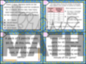 6.4D: Rates & Unit Rates STAAR Test-Prep Task Cards (6.RP.2)