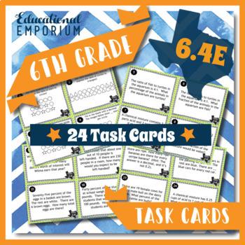 TEKS 6.4E Task Cards ⭐ Ratios & Percents ⭐ 6.4E Centers