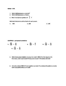 6.4G Equivalent forms fractions, decimals, percents
