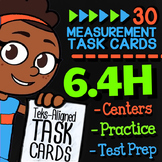 Math TEK 6.4H ★ Measurement Conversions ★ 6th Grade STAAR Math Task Cards