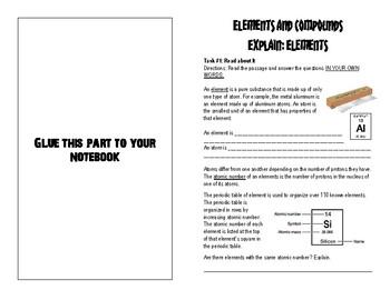 6.5 A Explain Elements