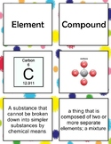 6.5A, C Elements and Compounds Vocabulary Match Up Activity