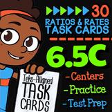 6.5C Math ★ FRACTIONS, DECIMALS, & PERCENTS Task Cards ★ 6th Grade Math TEK 6.5C