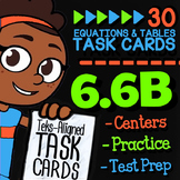 Math TEK 6.6B ★ Writing Equations from Tables & Graphs ★ 6th Grade Task Cards