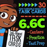 Math TEK 6.6C ★ Additive & Multiplicative Relationships ★ 6th Grade Task Cards