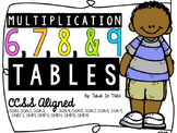 6, 7, 8, 9 Multiplication Tables Scoot