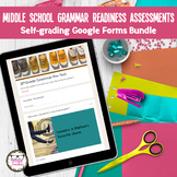 6, 7, 8 Grammar Readiness Language Assessment ELA Digital