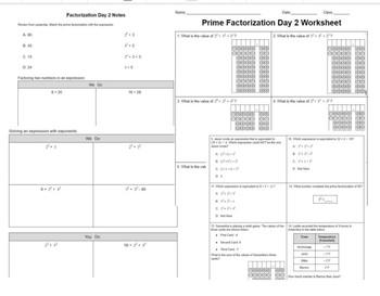 6.7A Prime Factorization