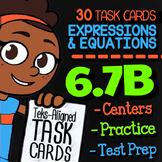 Math TEK 6.7B ★ Expressions & Equations ★ 6th Grade Task Cards