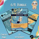 6/8 Bundle! Method book, rhythms, theory workbook, and per
