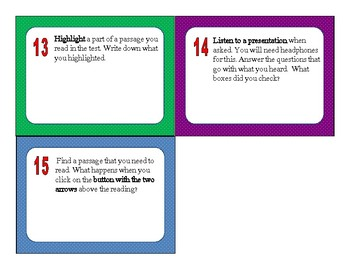3rd-8th Grade ELA SBAC Training Test Task Cards and Powerpoint