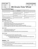 6-8 Grades Color Wheel