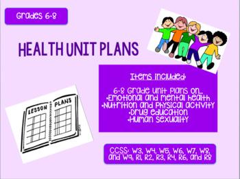 6-8 Health Unit Plans