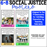 "6-8 Social Justice Posters-Kid Friendly ""I Can""-Anchor Charts"