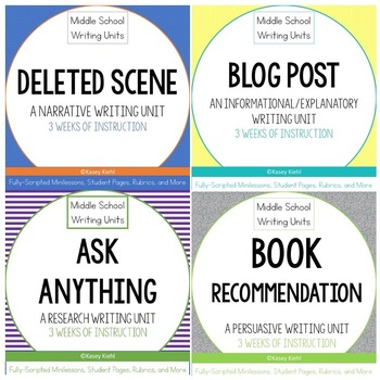 6-8 Writing Workshop Units Mini-Bundle (Option 1)