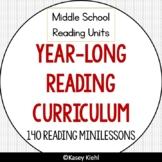6-8 Year-Long Reading Workshop Curriculum GROWING Bundle (