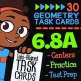 Math TEK 6.8A ★ Properties of Triangles ★ 6th Grade Math STAAR Review Task Cards