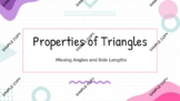 6.8A Triangle Properties - Missing Angles and Side Lengths