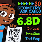 Math TEK 6.8D ★ Area & Volume ★ 6th Grade STAAR Test-Prep Task Cards