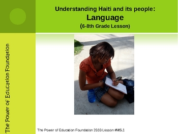 6-8th Interactive Lesson on the Languages of Haiti