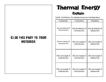 6.9 AB Thermal Energy- Explain #2