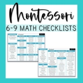 6-9 Montessori Math Checklist