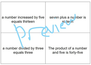 6.9c One Step Equations - Oddman Out activity